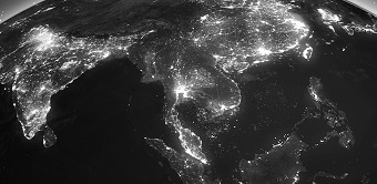 Asian emerging markets by night